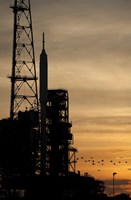 The Ares I-X rocket is seen on the Launch Pad Fine-Art Print