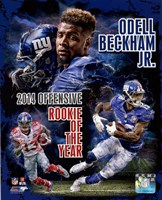 Odell Beckham Jr. 2014 NFL Offensive Rookie Of The Year Portrait Plus Fine-Art Print