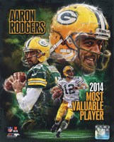 Aaron Rodgers 2014 NFL MVP Composite Fine-Art Print