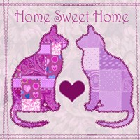 Home Sweet Home Cats III Fine-Art Print