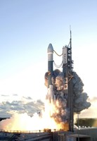 The Delta II Rocket Lifts off from its Launch Pad Fine-Art Print