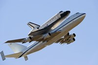 Space Shuttle Endeavour Mounted on a  Modified Boeing 747 Shuttle Carrier Aircraft Fine-Art Print