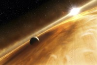 Artist's Concept of the Star Fomalhaut and a Jupiter-Type Planet Fine-Art Print