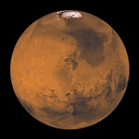 Global Color View of Mars Fine-Art Print