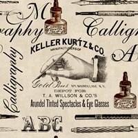 Calligraphy Pattern Fine-Art Print