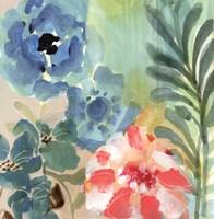 Blue Peach Floral I Fine-Art Print