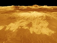 3D Perspective View of Sapas Mons on Venus Fine-Art Print