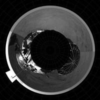 Polar Projection of Mars Fine-Art Print