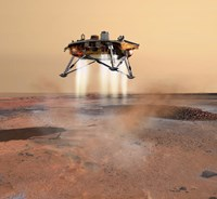 Phoenix Mars Lander Arriving on Mars Fine-Art Print