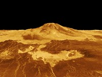 3D Perspective View of Maat Mons on Venus Fine-Art Print