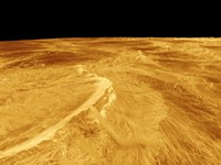 3D Perspective View of Latona Vorona and Dali Chasma on Venus Fine-Art Print