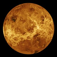 Global view of the Surface of Venus Fine-Art Print