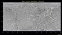 Global Map of Saturn's Moon Dione Fine-Art Print