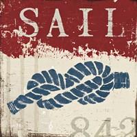 Nautical III Red Fine-Art Print