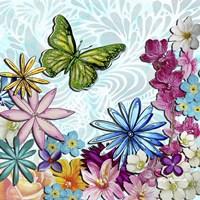 Whimsical Floral Collage 3-2 Framed Print