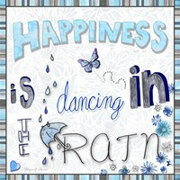 Happiness Is Dancing In The Rain - Colored In 2 Fine-Art Print