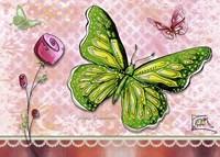 Green Yellow Butterfly 1 Fine-Art Print