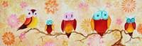 Chi Omega Owl Painting Fine-Art Print