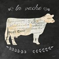 La Vache Cameo Sq Fine-Art Print