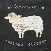 Le Mouton Cameo Sq Fine-Art Print