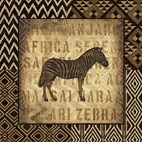African Wild Zebra Border Fine-Art Print