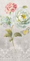 Textile Floral Panel I Fine-Art Print