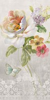 Textile Floral Panel II Fine-Art Print