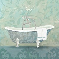 Damask Bath Tub Fine-Art Print
