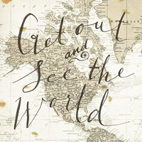 Get Out and See the World Square Fine-Art Print