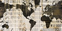 Crate World Map Neutral Fine-Art Print