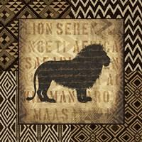 African Wild Lion Border Fine-Art Print