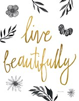 Live Beautifully BW Fine-Art Print