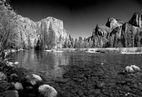 California Yosemite Valley view from the bank of Merced River Fine-Art Print