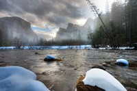 Merced River, El Capitan in background, Yosemite, California Fine-Art Print