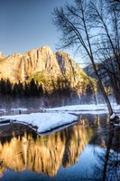 Yosemite Falls reflection in Merced River, Yosemite, California Fine-Art Print