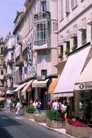 Shopping Scenic, Cannes, France Fine-Art Print