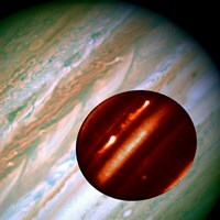 Hubble/IRTF Composite Image of Jupiter Storms Fine-Art Print