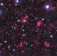 Dark Matter Distribution in Supercluster Abell 901/902 Fine-Art Print