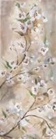 Cherry Blossoms Taupe Panel I Fine-Art Print