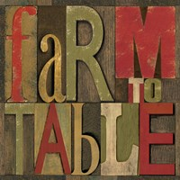 Printers Block Farm To Table I Fine-Art Print