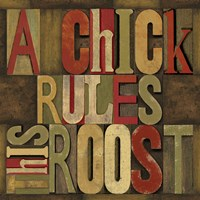 Printers Block Rules This Roost I Fine-Art Print