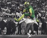 Marcus Mariota University of Oregon 2014 Spotlight Action Fine-Art Print