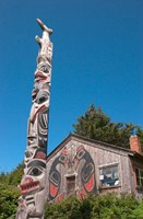 Haida Totem Pole and Tourist Shop, Queen Charlotte Islands, Canada Fine-Art Print