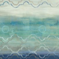 Abstract Waves Blue/Gray I Fine-Art Print