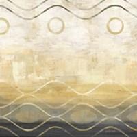 Abstract Waves Black/Gold II Fine-Art Print