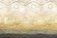 Abstract Waves Black/Gold Fine-Art Print