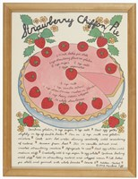 A Strawberry Chiffon Pie Fine-Art Print