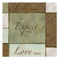 Live Expect Love Fine-Art Print