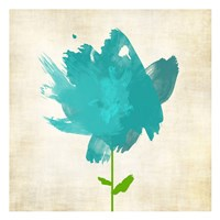 Brush Stroke Flowers Blue Fine-Art Print