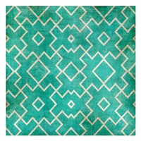 Tan on Teal Pattern Fine-Art Print